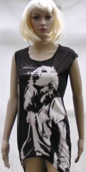 debbie harry ladies dip hem long t-shirt
