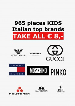 965 PIECES TOP ITALIAN BRANDS KIDS STOCK TAKE ALL €8,-