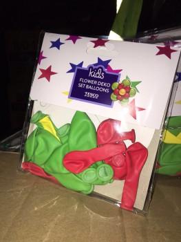 Flower deko balloons set