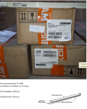 Osram T5 fixture without lamp