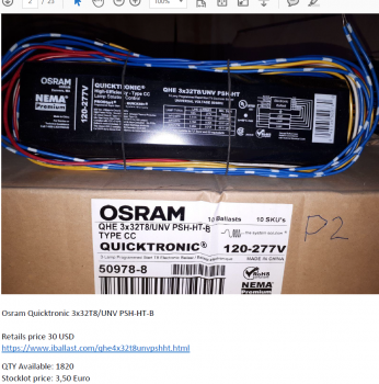 Osram Quicktronic power supply