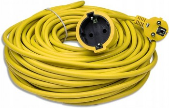 FIGHTER FT-755 EXTENSION CABLE YELLOW 2x1.5 - 50 M - Extension cord
