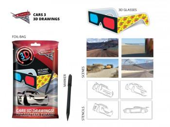 Cars 3 3D Drawings