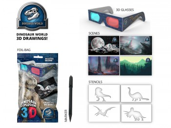 3D Dinosaur Drawing