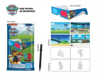Paw Patrol 3D Drawing