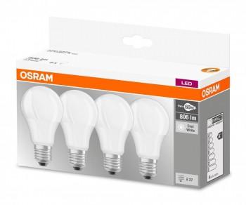 Osram 4x LED BASE Lampe Classic E27-A60/9W~60W/806lm/2700K/200°/A+/LMX