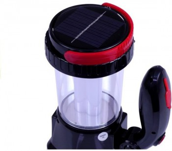 Multifunctional solar camping lamp - black - RB-1912