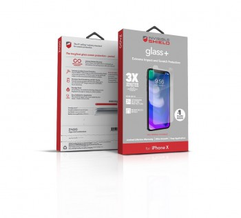 ZAGG InvisibleShield Glass+ Clear Screen Protector for iPhone X