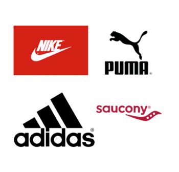 Nike Adidas Saucony Puma footwear