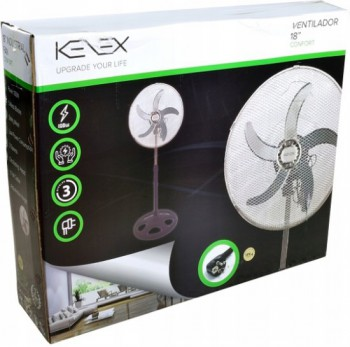 KENEX V20P - Tripod fan - 57 cm luxury fan - black - 85W