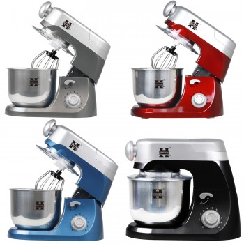 Herzberg HG-5029:3 in 1800W Stand Mixer With Planetary Beating Action Red