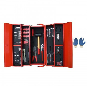 Mannsberger 808.606: 121-Piece Tool Set w/ 5 Compartment Cantilever Tool Box