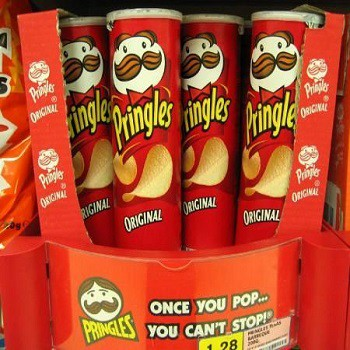 Various Size Private Label Pringles Potato Chips Can