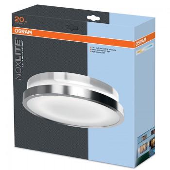 Osram Noxlite LED Circular Außenleuchte Wandlampe 35cm/20W/930lm/3000K/A++/IP44/chrom