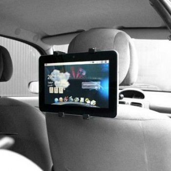 "Car backseat holder for 9,7 and 10"" tablets. Cool for the kids."