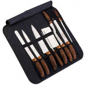 Royalty Line RL-K9C;Knife Set with leather case (9 pieces)