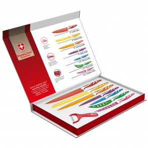 Royalty Line RL-COL7M; Colored knife set (8 pieces)