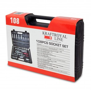 Kraftroyal Line108-Socket: 108PCS Socket Set