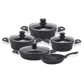 Smart Line SL-SC9PS01; Cookware set in marble coating 9pcs