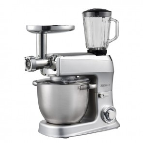 Royalty Line PKM 2100 BG; 3 in 1 food processor with 2100 watts max Silver