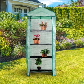 Herzberg HG-8001; 4-Tier Greenhouse
