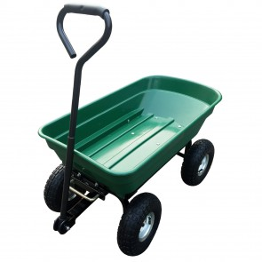 Herzberg HG-8028-50: 50L Wheel Barrow Dump Cart