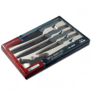 Royalty Line RL-CB5P: 5 Pieces Knife Set In Non-Stick Coating With Peeler