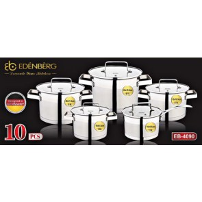 EDËNBËRG PRESTIGE Luxury 10-Piece Cookware Set - EB-4090