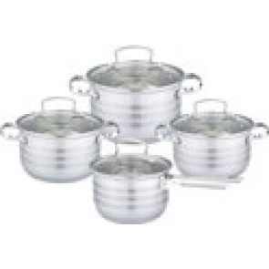EDËNBËRG Luxury Pan Set - 8-Piece - With 5-Layer Bottom! - EB-4072