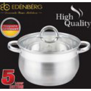 EDËNBËRG EB-3725 saucepan with lid - Ø 20 cm - 3.9L - Equipped with 5-layer base!