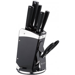 Edënbërg knife set 7 parts - black