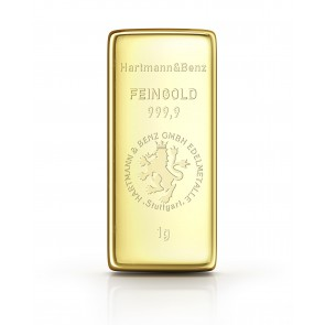 1 Gramm Goldbarren/Gold bar