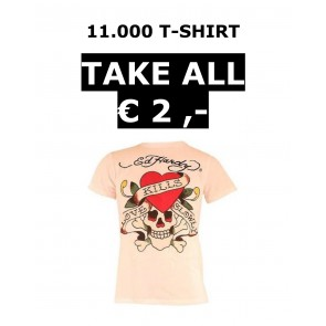 ED HARDY T SHIRT 11.000 PIECES TAKE ALL €2,-