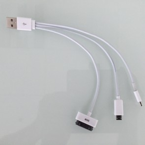 IT-CAB 3 IN 1 Cable 3 IN 1 Para iPhone 4s, Micro USB e iPhone X