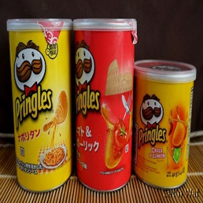 2018 Pringles with All Flavors and Szies