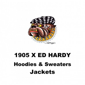 1905  pieces Ed Hardy & Urban Way hoodies & sweaters take all € 6 -