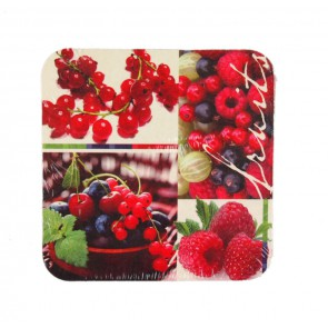 "Table Mat 8 pcs., rectangle, 9,3 x 9,3 cm, ""Fruits"""