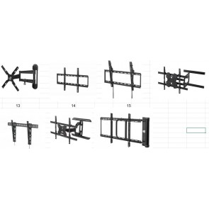TV Mounting Wall Brackets - 1900 pcs.