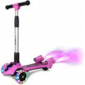 Cool kids scooter with smoke, sound and LED lighting - pink / purple - SC-029