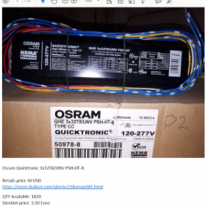 Osram Quicktronic power supply
