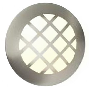 Bravant 13W Brushed stainless steel Outdoor Wall Light
