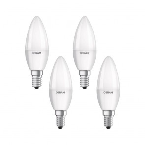 Set of 4x Osram LED Base Classic Candle Bulb E14/5.7W~40W