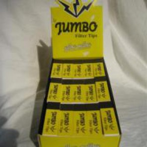 Jumbo filter tips yellow mellow