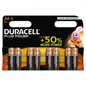 Duracell Power Plus AA/AA Pack 8