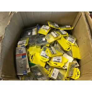 Big stock of hinges, locks and small iron hardware packages