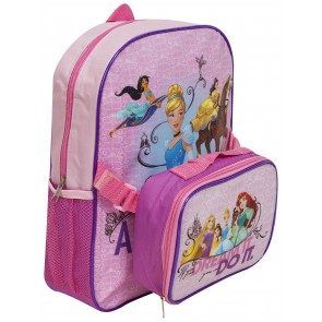 Princess backpack with lunchbag