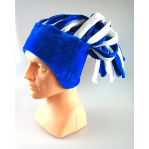dreadlocks cap - white and blue