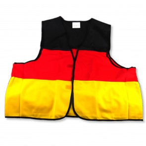 vest, yellow-red-black