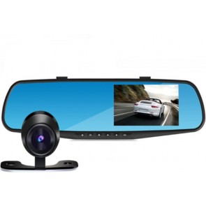 HA-MA PO-054 DashCam CarCam Rearview Mirror HD 1080p Dual Camera