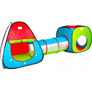 Children's tent with tunnel PO-7580 - pop-up tent - Play tent - 230 x 78 x 91 cm B